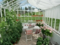 Högsommar i ett växthus